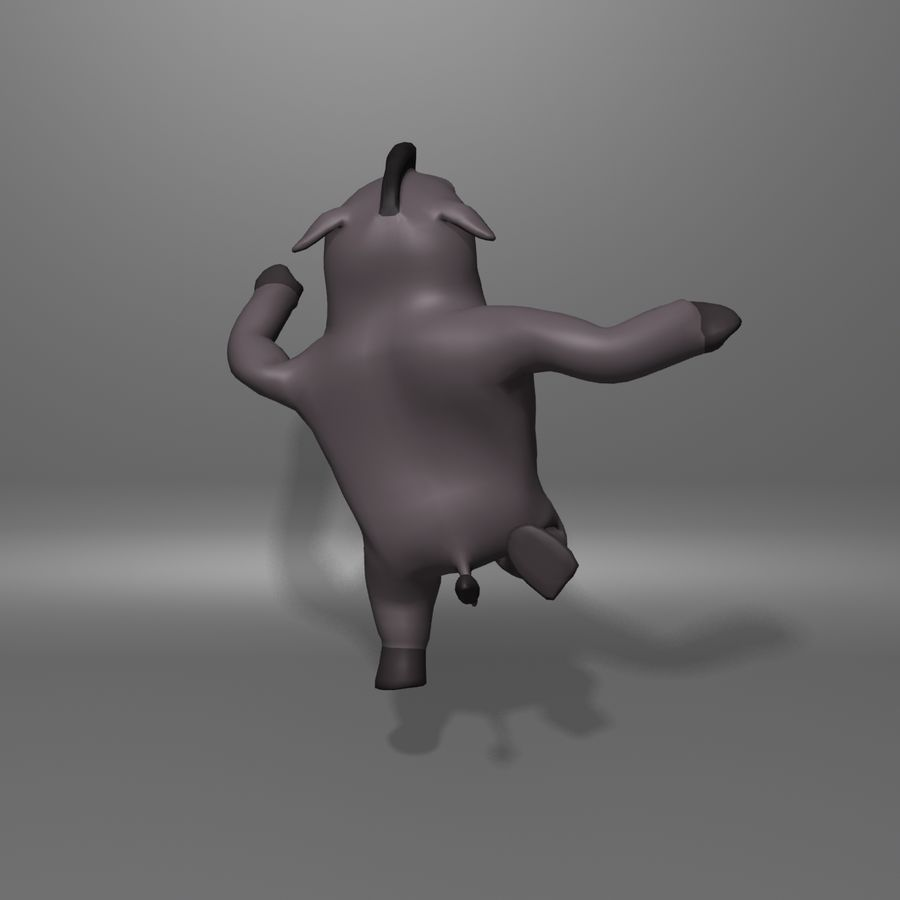Cinghiale royalty-free 3d model - Preview no. 11