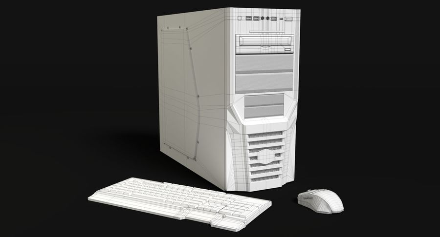Spielecomputer royalty-free 3d model - Preview no. 14