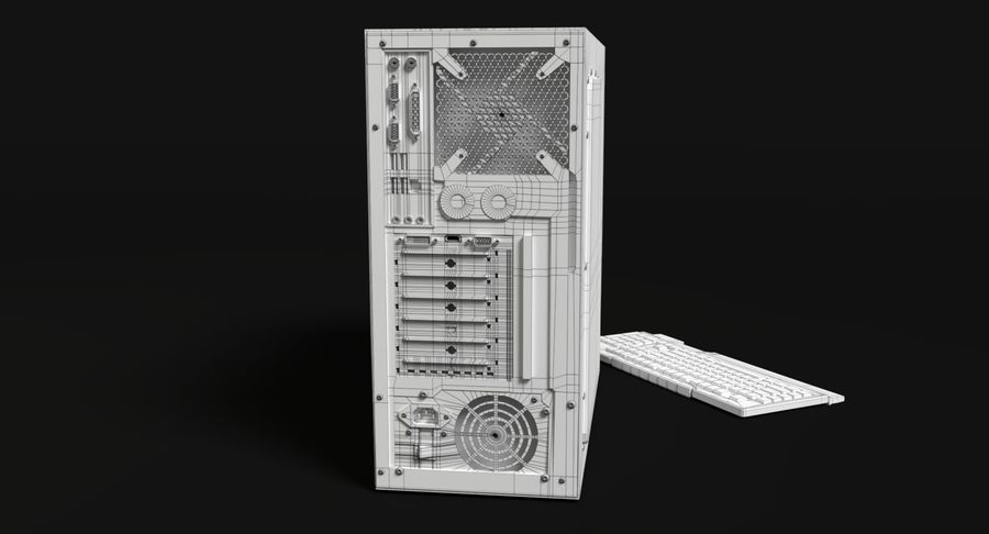 Spielecomputer royalty-free 3d model - Preview no. 16