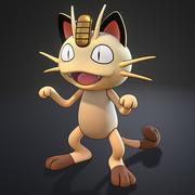 Meowth Pokemon 3d model