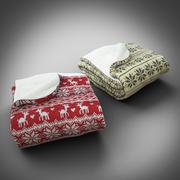 Scandinavian Blanket Fold 3d model