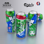 Beer can Carlsberg Euro 2016-utgåva 500ml 3d model