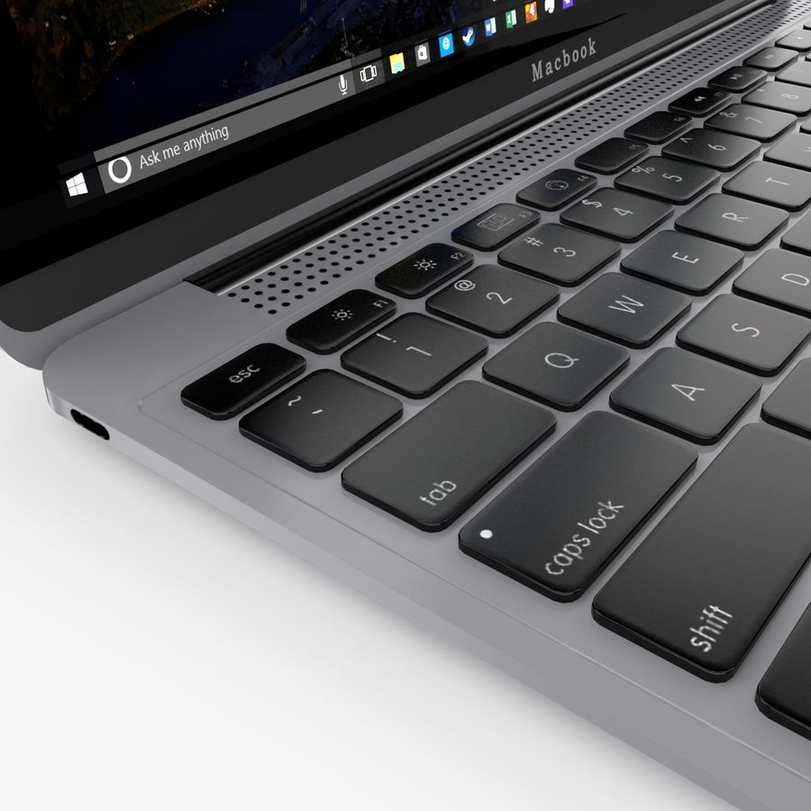 Apple Macbook 2015 royalty-free 3d model - Preview no. 24