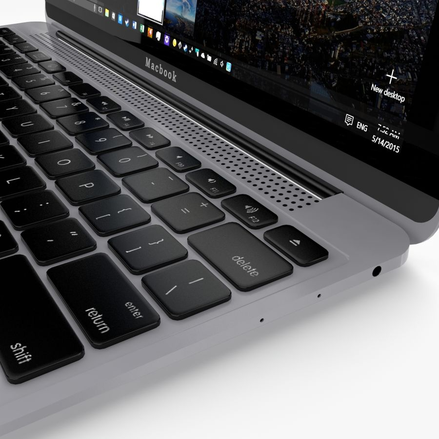Apple Macbook 2015 royalty-free 3d model - Preview no. 19