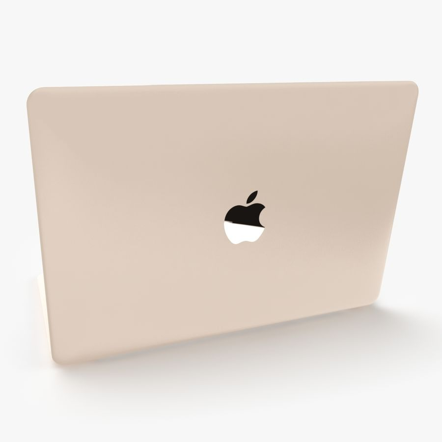 Apple Macbook 2015 royalty-free 3d model - Preview no. 7