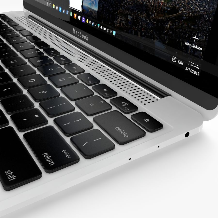 Apple Macbook 2015 royalty-free 3d model - Preview no. 21