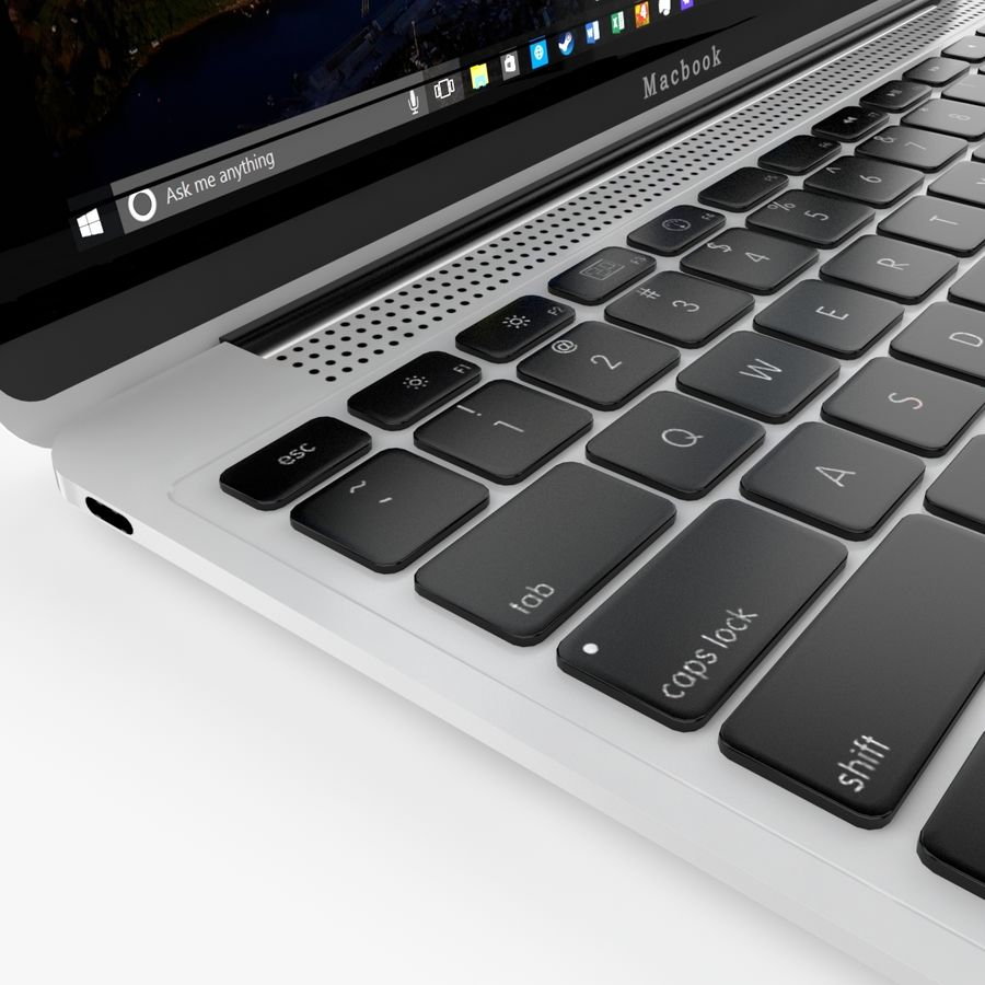 Apple Macbook 2015 royalty-free 3d model - Preview no. 22