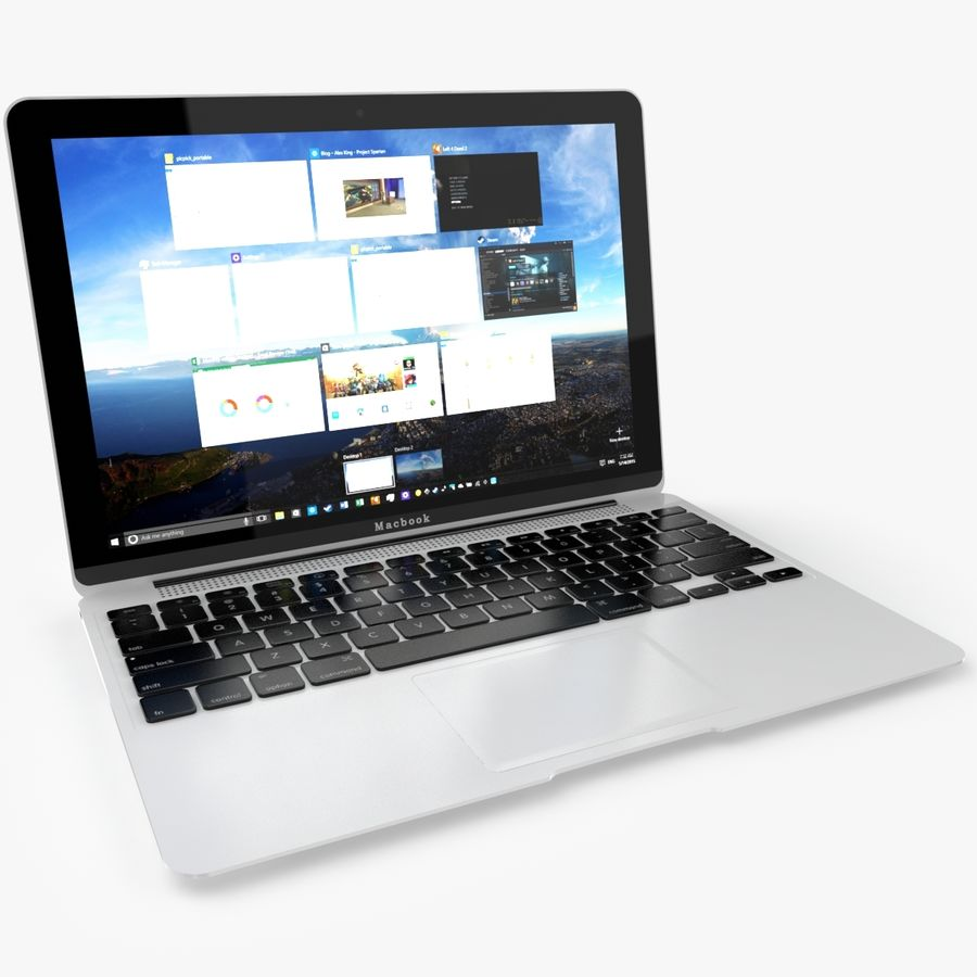 Apple Macbook 2015 royalty-free 3d model - Preview no. 5