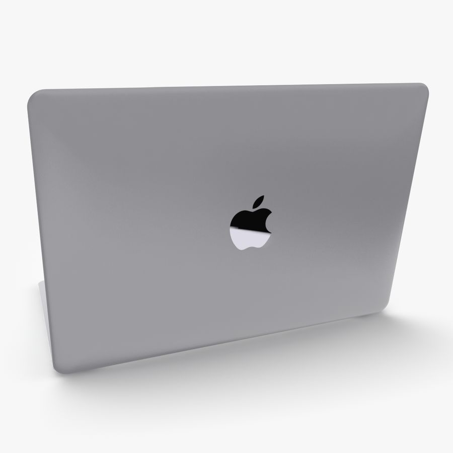 Apple Macbook 2015 royalty-free 3d model - Preview no. 6