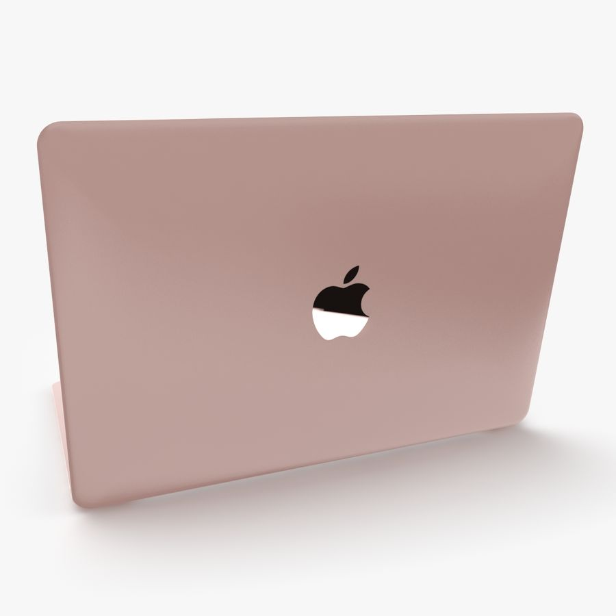 Apple Macbook 2015 royalty-free 3d model - Preview no. 8