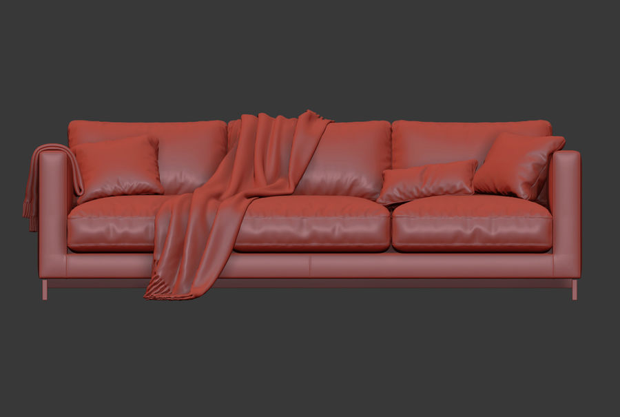Molteni&Cリバーシソファ royalty-free 3d model - Preview no. 10