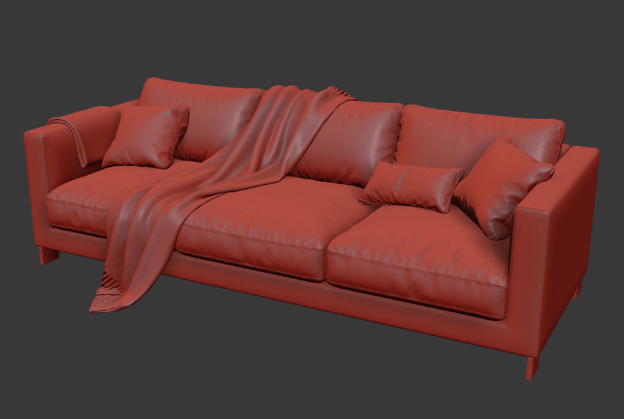 Molteni&Cリバーシソファ royalty-free 3d model - Preview no. 6
