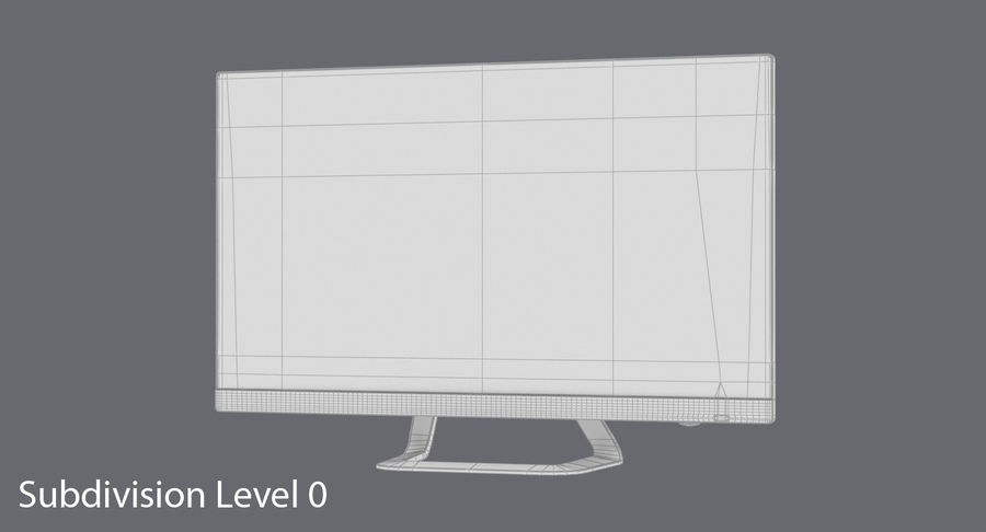 Pc Monitor 02 royalty-free 3d model - Preview no. 13
