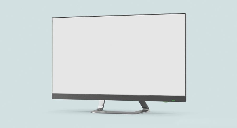Pc Monitor 02 royalty-free 3d model - Preview no. 3