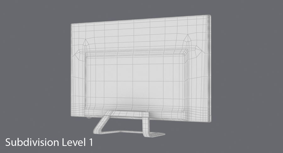 Pc Monitor 02 royalty-free 3d model - Preview no. 18