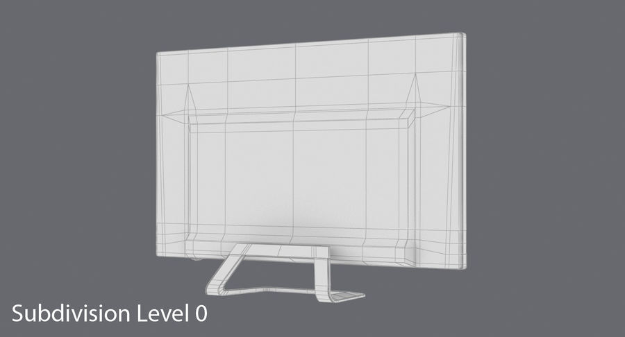 Pc Monitor 02 royalty-free 3d model - Preview no. 15