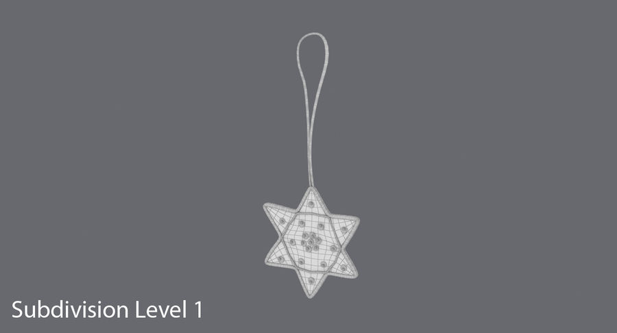 Star of David Ornament 01 royalty-free 3d model - Preview no. 12