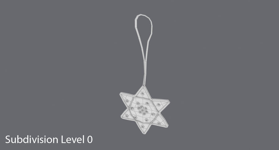 Star of David Ornament 01 royalty-free 3d model - Preview no. 15