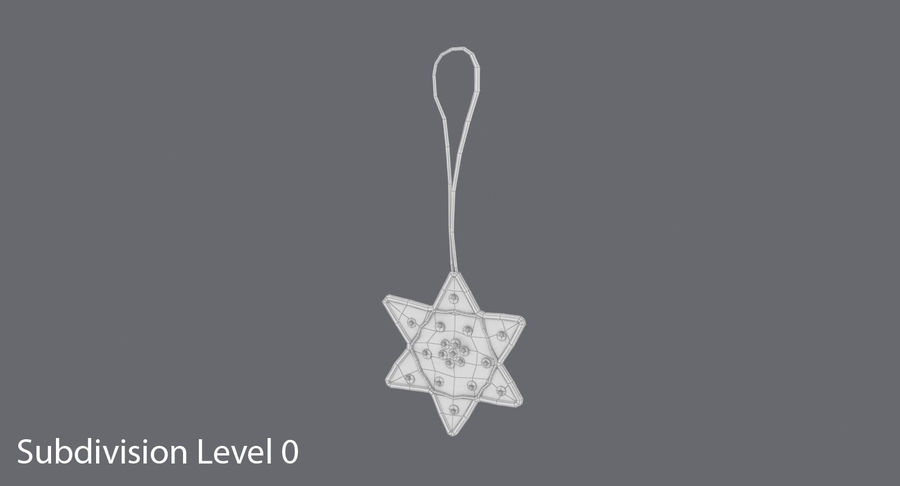Star of David Ornament 01 royalty-free 3d model - Preview no. 11