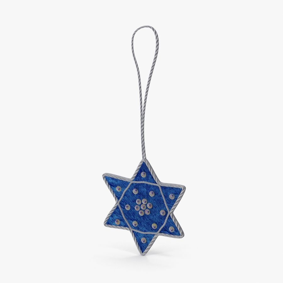 Star of David Ornament 01 royalty-free 3d model - Preview no. 1