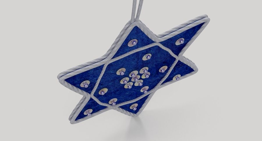 Star of David Ornament 01 royalty-free 3d model - Preview no. 6