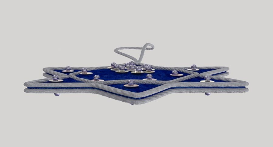 Star of David Ornament 01 royalty-free 3d model - Preview no. 10