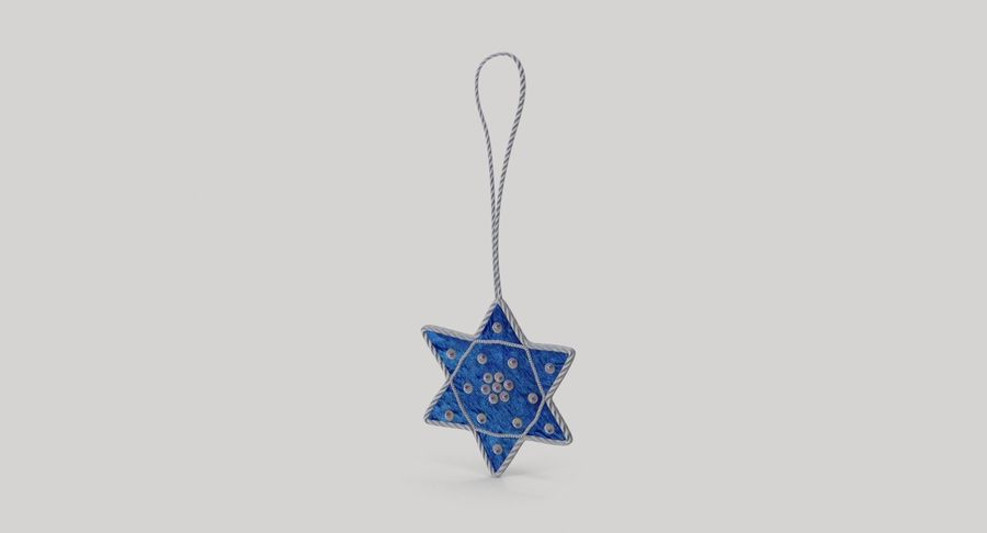 Star of David Ornament 01 royalty-free 3d model - Preview no. 3