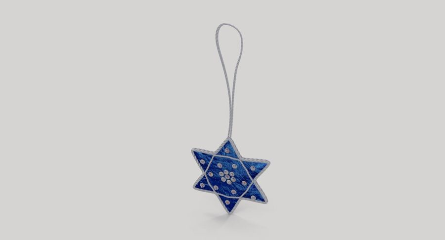 Star of David Ornament 01 royalty-free 3d model - Preview no. 4