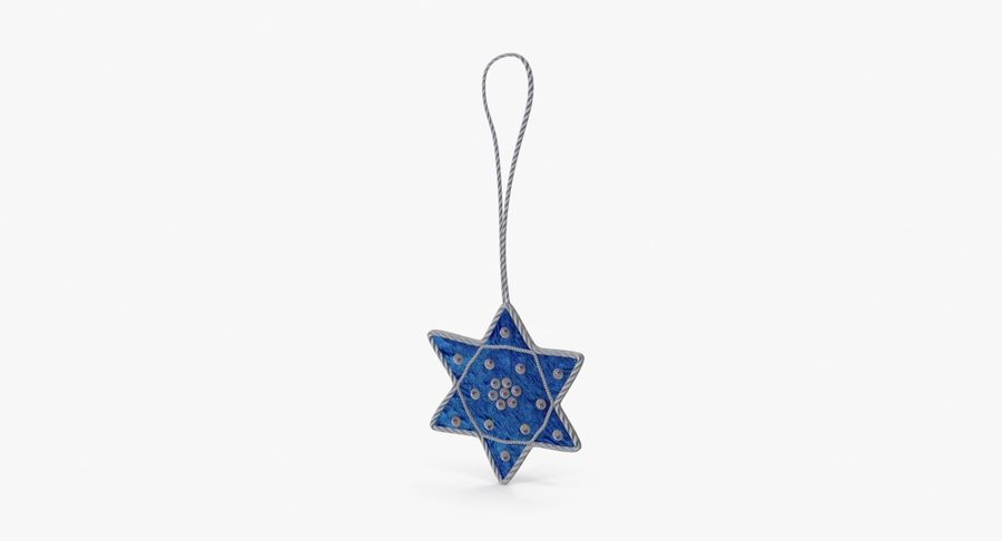 Star of David Ornament 01 royalty-free 3d model - Preview no. 2