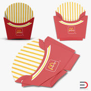 French Fry Boxes McDonalds 3D Models Collection 3d model