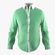 Hemd Mit Grünem Streifen 3d model