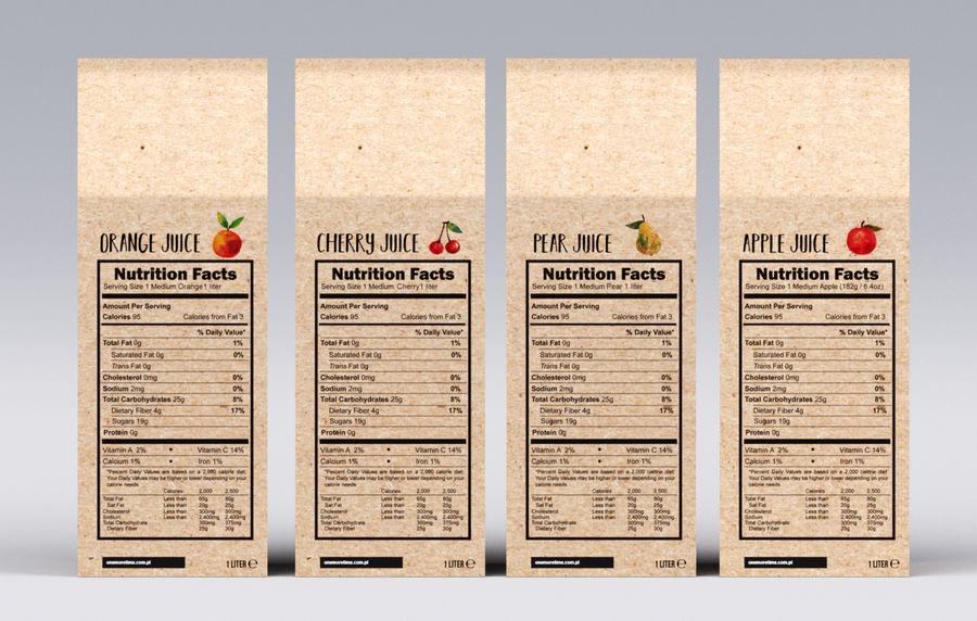 Scatole di succo di frutta royalty-free 3d model - Preview no. 3