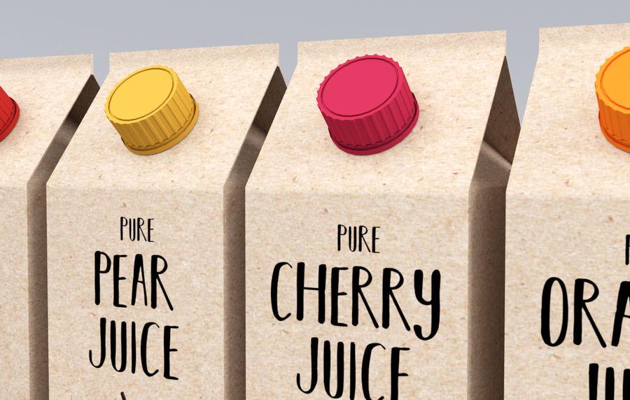 Scatole di succo di frutta royalty-free 3d model - Preview no. 4