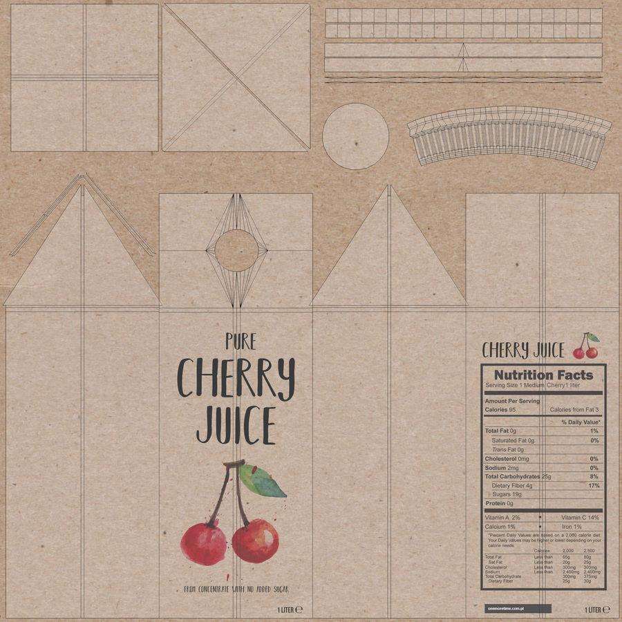 Scatole di succo di frutta royalty-free 3d model - Preview no. 6