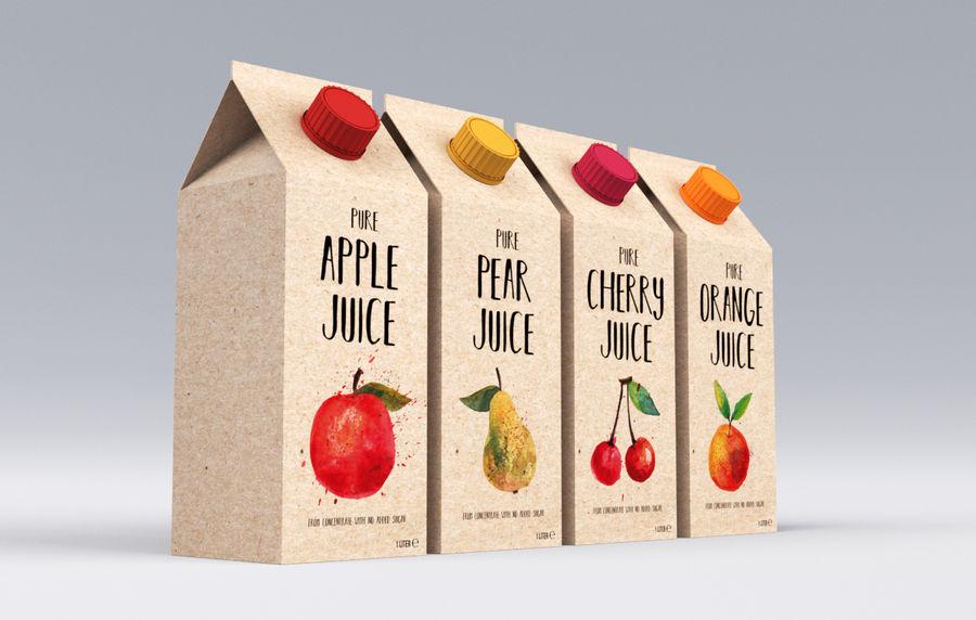 Scatole di succo di frutta royalty-free 3d model - Preview no. 1