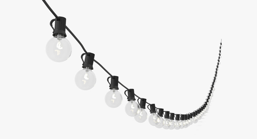 String Lights 03 royalty-free 3d model - Preview no. 3