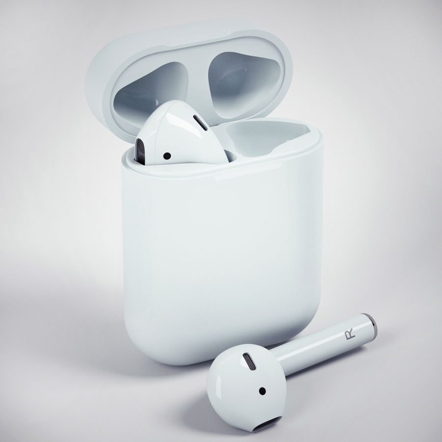 Apple Airpods 3d Model 29 Max Obj Fbx Free3d