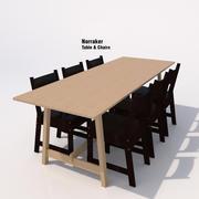 Ikea Norraker Dining Set-01B 3d model