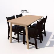 Ikea Norraker Dining Set-02B 3d model
