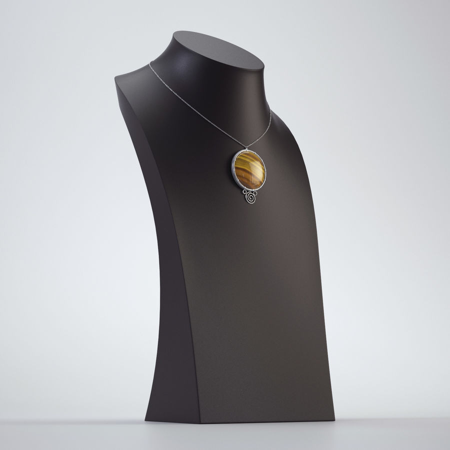 popiersie z biżuterii 2 royalty-free 3d model - Preview no. 1