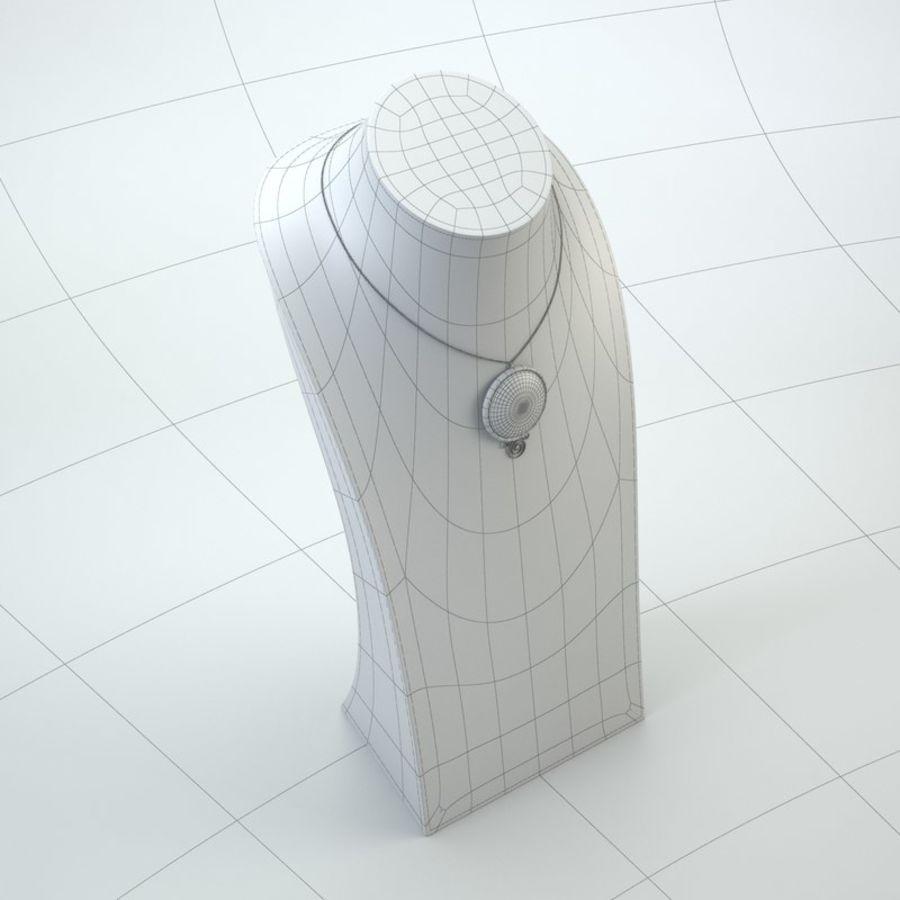 popiersie z biżuterii 2 royalty-free 3d model - Preview no. 10