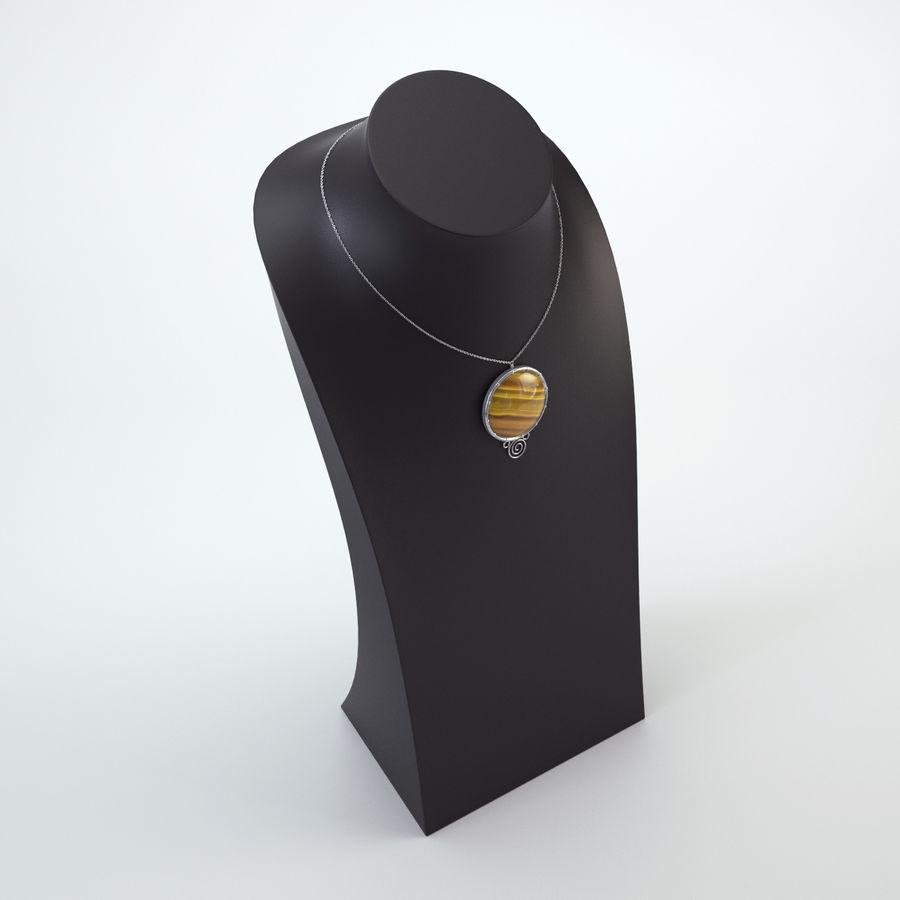 popiersie z biżuterii 2 royalty-free 3d model - Preview no. 3