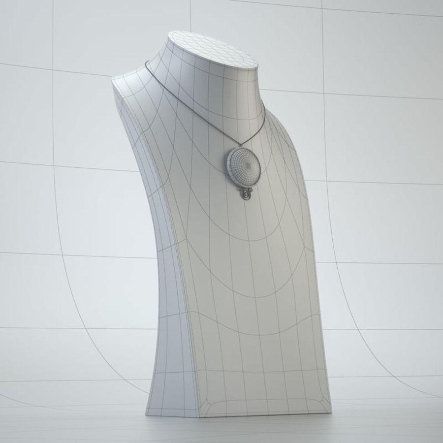 popiersie z biżuterii 2 royalty-free 3d model - Preview no. 8