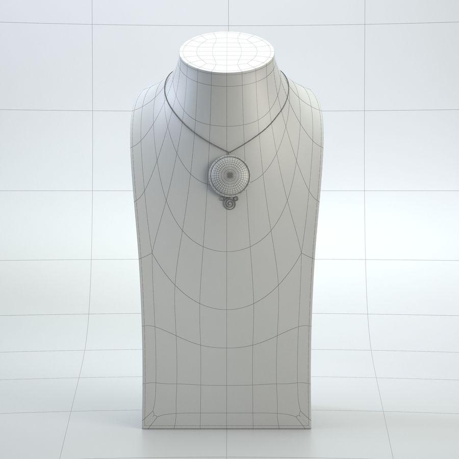 popiersie z biżuterii 2 royalty-free 3d model - Preview no. 9