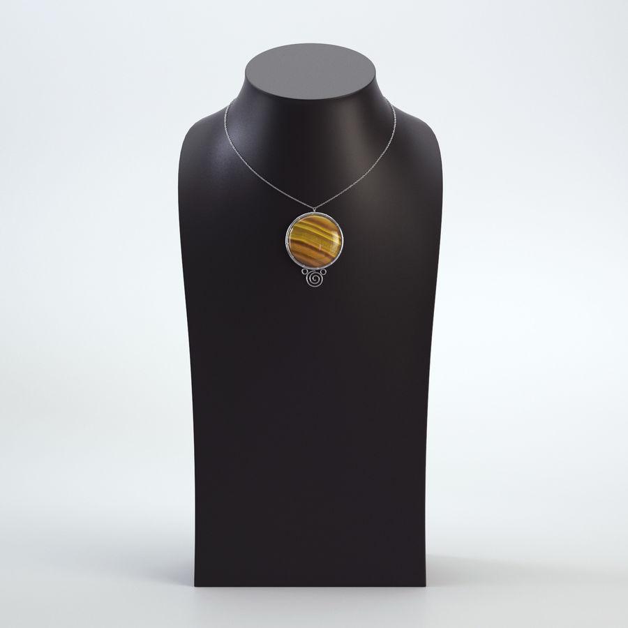 popiersie z biżuterii 2 royalty-free 3d model - Preview no. 2