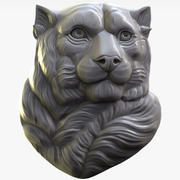 Panther Leopard relief for CNC 3d model