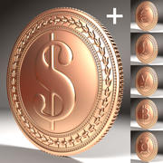 Coins Collection 3d model