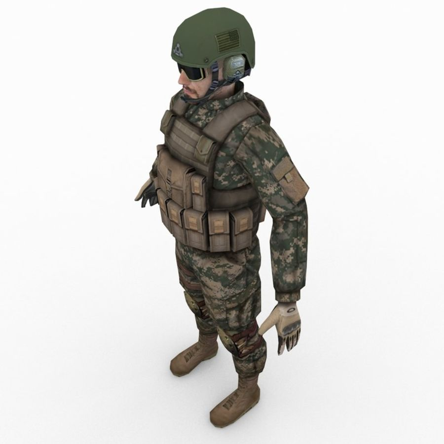 ABD Ordusu Delta Gücü royalty-free 3d model - Preview no. 5