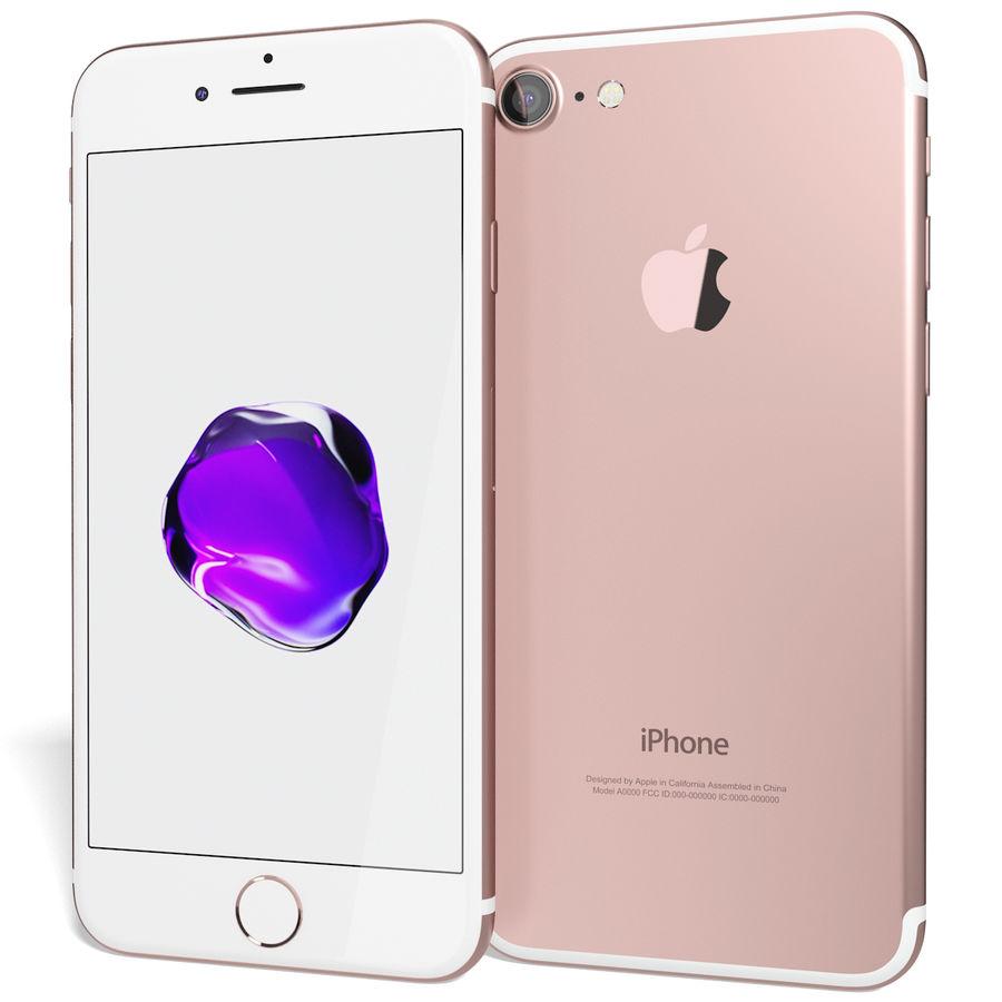 Apple iPhone 7 Gül Altın royalty-free 3d model - Preview no. 3