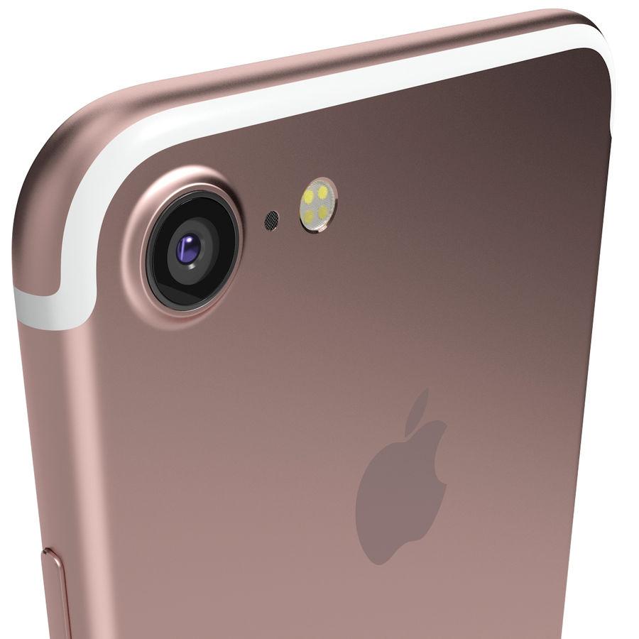 Apple iPhone 7 Gül Altın royalty-free 3d model - Preview no. 7